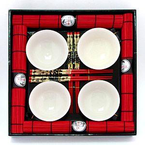 Набор для суши на 4 персоны красно-белый