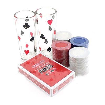 Пьяный Покер на 60 фишек с рюмками