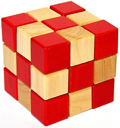 Головоломка деревянная в карт. кор. К2