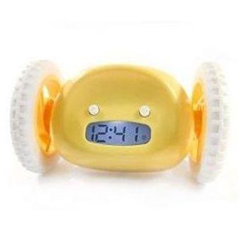 Убегающий будильник Clocky желтый