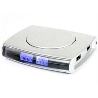 USB-Hub Нагреватель кружки на 4 USB с Дисплеем и Часами