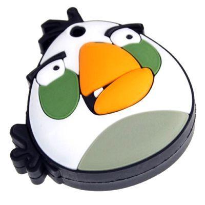 """Флешка """"Angry birds"""" 8 Гб белая птица плоская"""