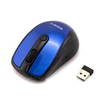 Мышь беспроводная Sony Vaio голубая