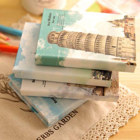 """Книга для записей с ручкой и стикерами  """"Пизанская башня"""""""