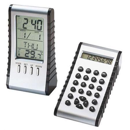 Настольные часы с калькулятором и термометром