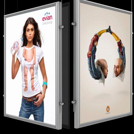 Лайтбокс для подсветки постеров или рекламных объявлений на защелках 90х100 см