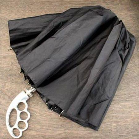 """Зонт """"Кастет"""" с серебряной ручкой складной"""