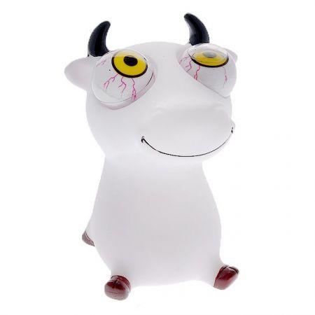 Антистресс игрушка для рук Лупоглазик белая корова