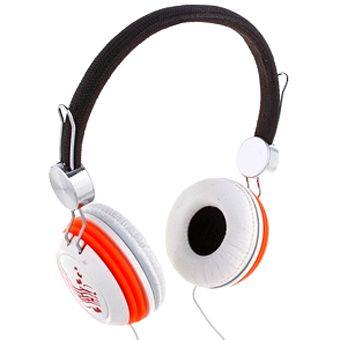 Наушники накладные Xbass  k-40 большие бело-оранжевые