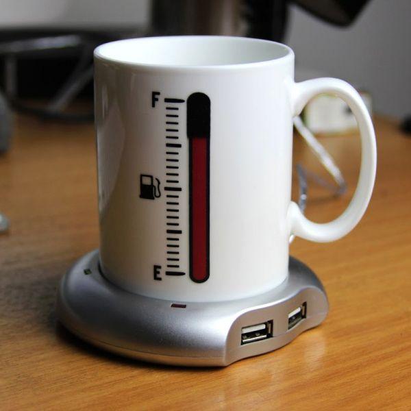 USB Hub - подогреватель для кружки, чашки с 4-мя портами USB (Нагреватель-Хаб)