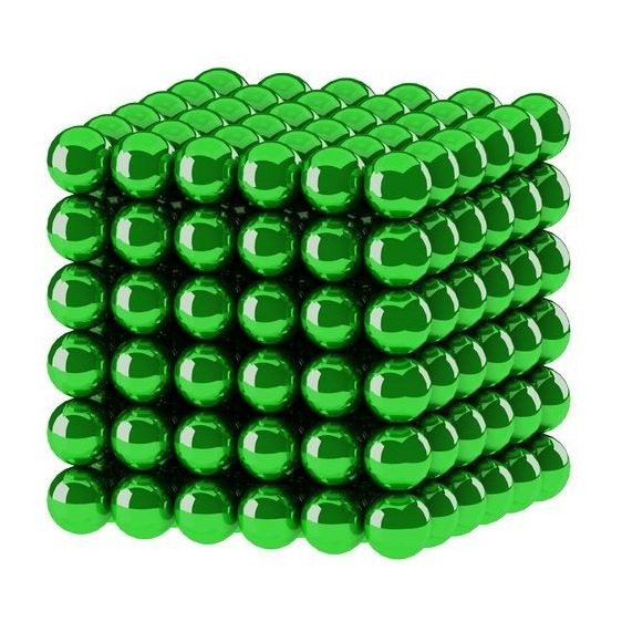 Головоломка Нео куб 5мм 216 сфер зеленый