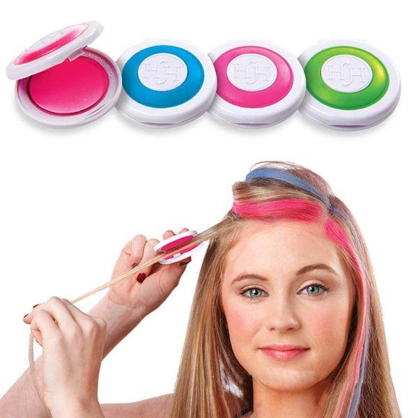 Цветные мелки для волос 4 цвета