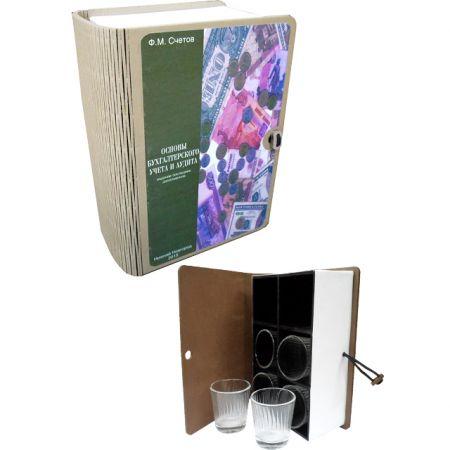 Книга-шкатулка Основы БУ и аудита со стопками