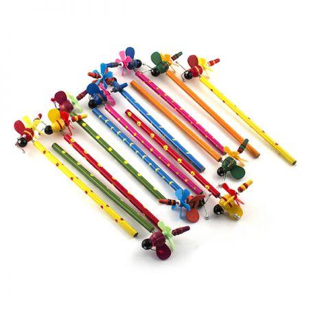 """Набор карандашей на пружинке """"Стрекозы"""" 12 шт в пакете"""