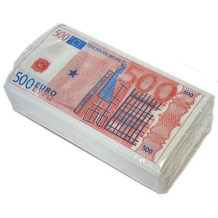 Салфетки Пачка 500 ЕВРО 2-х сл. 33х33 см